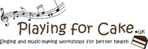 Playing for Cake Community Interest Company Logo - Singing and music-making workshops for better health and wellbeing